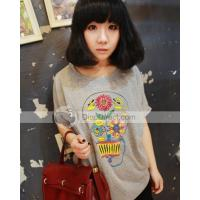 Wholesale Vacation Fashionable Sunflower Printing Women T Shirt from china suppliers