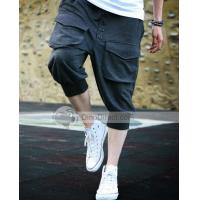 Wholesale POPHOMME Cotton Cropped Harem Mens Pants from china suppliers