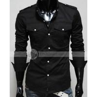 Buy cheap YW Buttoned Cotton Folding Collar Long Sleeve Buttoned Mens Casual Shirts from wholesalers