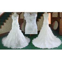 China Top sale organza sweetheart strapless Wedding dress on sale