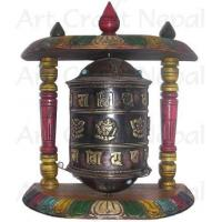 Wholesale Ritual Objects Metal Prayer's Wheel with Wooden Stand from china suppliers