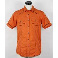 Buy cheap Orange short sleeve casual shirt from Wholesalers