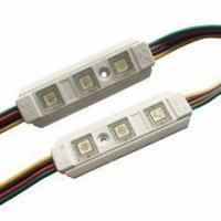 Wholesale LED Pixel Module Epistar Chip 3SMD 5050 RGB LED Module Waterproof IP67 With Lense PC Material from china suppliers