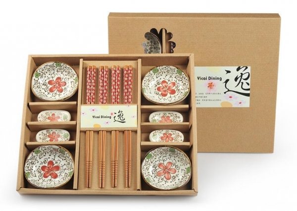 Quality Promotion Items ceramic bowls and chopsticks gift set for sale