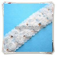 Buy cheap Charming double line chiffon flower trimming with sequins FCL002 from wholesalers
