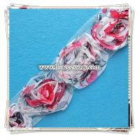 Buy cheap Colorful Chiffon flower lace for garment/scarf decoration FCL010 from wholesalers