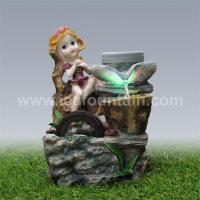 Wholesale Figure fountains Lovely girl desktop fountains from china suppliers
