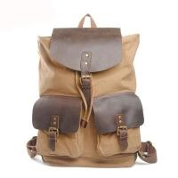 Hot trend good price high quality waxed canvas student day pack