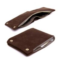 Wholesale Fashion design trendy style minimalist genuine cowhide leather zipper credit card wallet for men from china suppliers