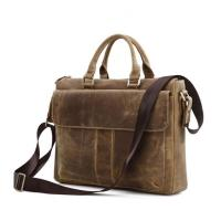 Wholesale China factory wholesale brown leather business laptop bag briefcase for man from china suppliers