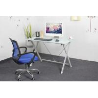 Wholesale White Tempered Modern Glass Home Office furniture computer desk Square DX-5580 from china suppliers