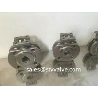 Buy cheap Stainless steel ball valve Stainless steel CF8 wafer flanged ball valve from wholesalers
