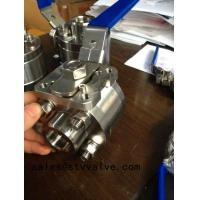 Buy cheap Forged steel ball valve Class 800 Forged ball valve with pad from wholesalers