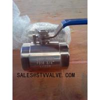 Buy cheap Forged steel ball valve 2pc Class 800 Forged ball valve(A015,304,316) from wholesalers