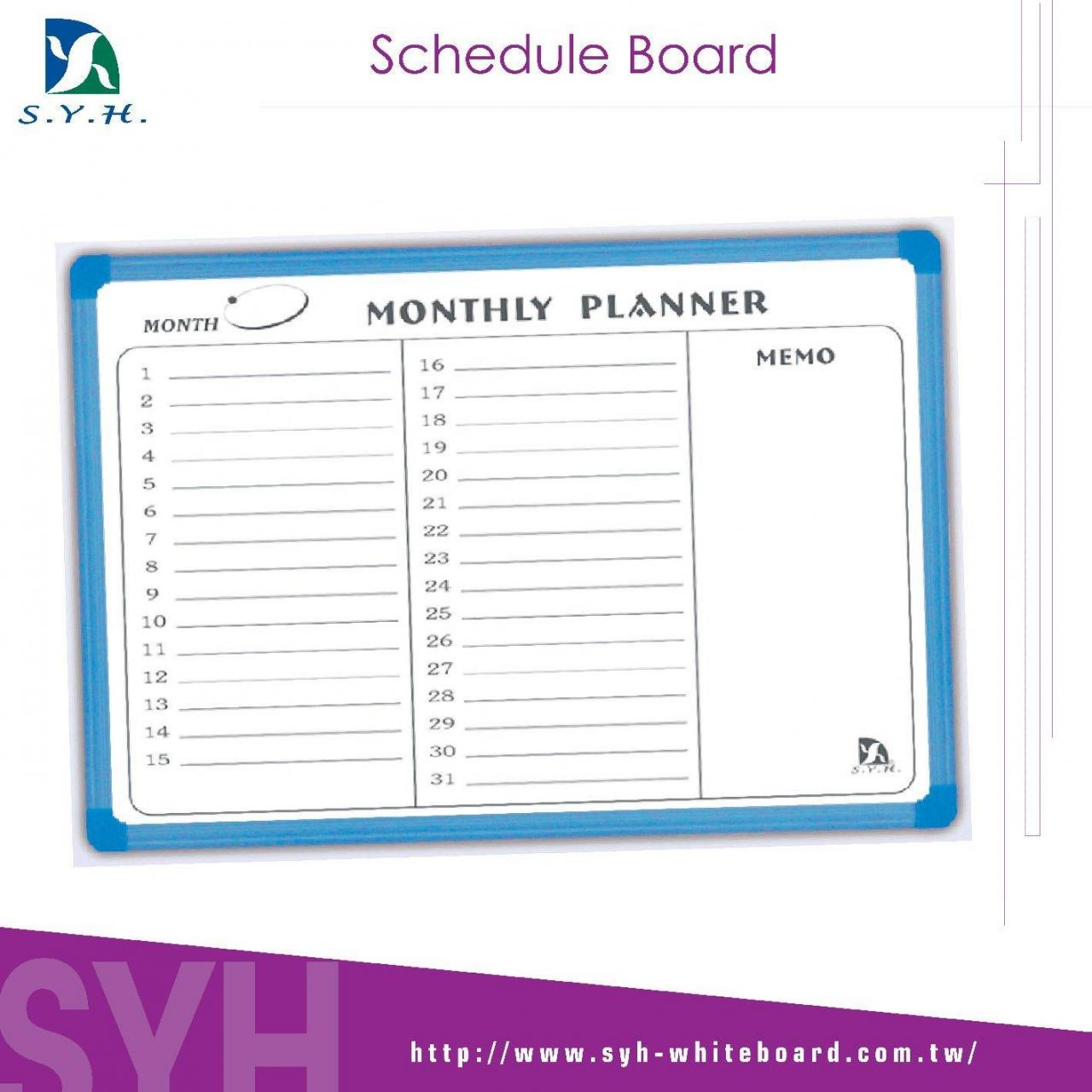 Buy cheap Monthly Board Schedule Board from Wholesalers