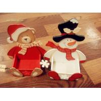 Buy cheap wood snowman and bear from Wholesalers