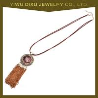 Wholesale New Luxury Fashion Vintage Necklace Popular Gold Plated Tassel Necklace from china suppliers