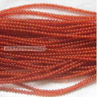 Buy cheap red agate 4mm round beads from Wholesalers