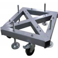 Wholesale Custom Welding Fabrication 290*290mm Spigot Square Truss Steel Base With Wheel from china suppliers