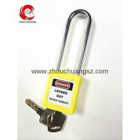 Wholesale ZC-G21 Yellow ABS / Stainless Steel / Nylon Xenoy Safety Padlock from china suppliers