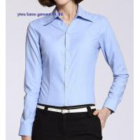 Wholesale Long sleeve woman formal dress shirts cotton office lady dress blouse from china suppliers
