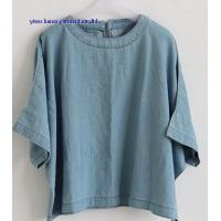 Wholesale Fashion lady denim tops woman jean blouse from china suppliers