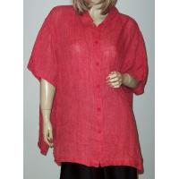 Woman Half-Sleeve Linen Shirts/blouse