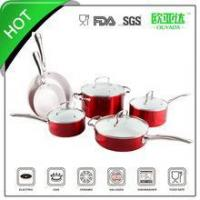 "Wholesale ""SGS approved"" 10pcs ceramic coated cookware set from china suppliers"