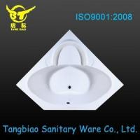 Hot sale plastic bathtub for bathroom design,diamond shape corner acrylic bathtub