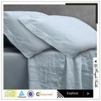 Wholesale white made in China plain vintage washed flax linen bedding set from china suppliers