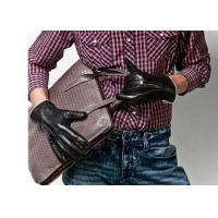 Wholesale Cool Basic Men Short Genuine Leather Gloves , Black Sheep Leather Gloves for Man from china suppliers