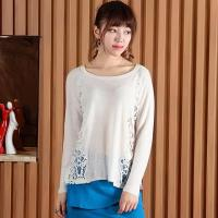 Wholesale 2016 Spring Hollow Sweater Pullover With Lace from china suppliers