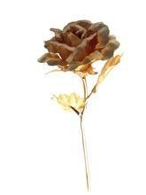 Quality 24k gold foil flower pure gold foil rose wedding gift gold foil budding rose flower for sale