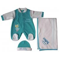 Categories Baby long sleeve & emb overall + emb.blanket + cap 3pcs set Style No.FOB3-11596