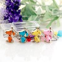 Wholesale Lovely colorful zinc alloy dog keychain from china suppliers