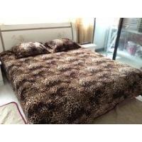 Wholesale 3 pcs bedsheet set 100% polyester animal skin printed flannel from china suppliers