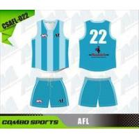 Transfer printing AFL playing jumper and shorts