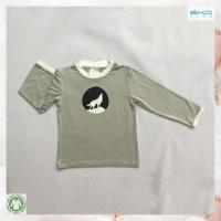 Buy cheap wolf printed bamboo t-shirts for little child from Wholesalers
