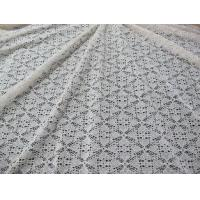 Wholesale Stretchable Cotton Nylon Lace Fabric For Apparel , Lace Mesh Fabric from china suppliers