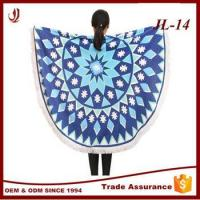 Wholesale 100% Cotton 1500mm Softtextile Round Beach Towels with Tassels from china suppliers