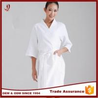 Wholesale Custom Produce 100% Cotton White Velour Cheap Bathrobe for Adults from china suppliers