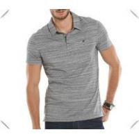 Wholesale high quality cool man grey heathered dry fit performance stripe golf polo shirts custom wholesale from china suppliers