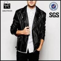 Wholesale Famous Brand Men Faux Leather Jacket from china suppliers