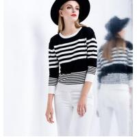 Wholesale tight stripe short sweater from china suppliers