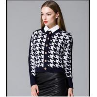 Buy cheap Shirt Long sleeve winter women cardigan Houndstooth sweater with buttons from wholesalers