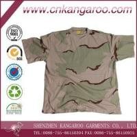 Wholesale 100% Cotton 160gsm 3 Colors Desert Camouflage Army T Shirt from china suppliers