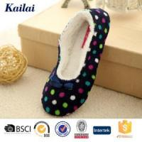 Wholesale Dance Shoes Printed Coral Fleece Bowknot Dance Shoes from china suppliers