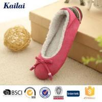 Wholesale Dance Shoes Suede Fabric Bowknot Ballet Shoes from china suppliers