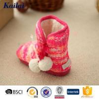 Wholesale Baby Shoes Cashmere Pom Pom Baby Shoe from china suppliers