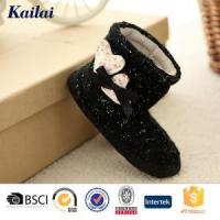 Wholesale Baby Shoes Cashmere Heart-shaped Bowknot Baby Boot from china suppliers
